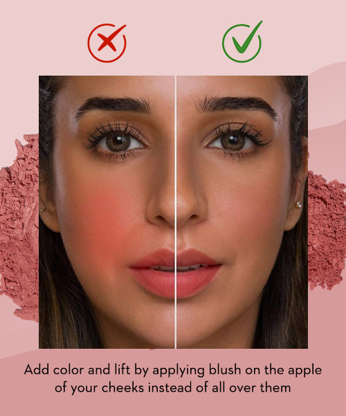 Tips and tricks to apply blush 06