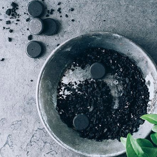 Charcoal deep cleanses skin
