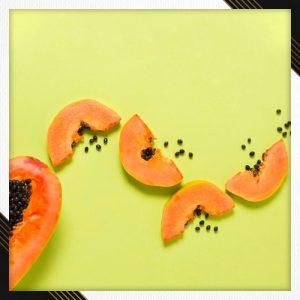 DIY papaya lip scrub for smooth lips