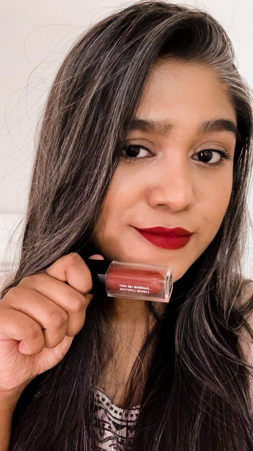 SUGAR Smudge Me Not Liquid Lipstick in 01 Brazen Raisin Review