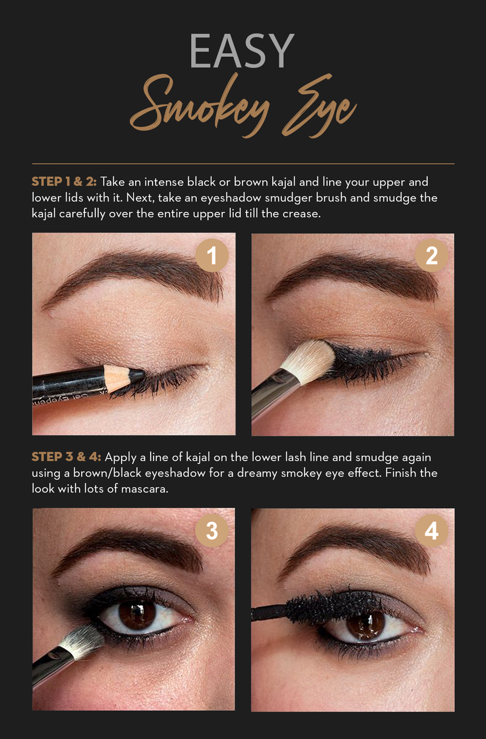 How to create a smokey eye with kohl or kajal1