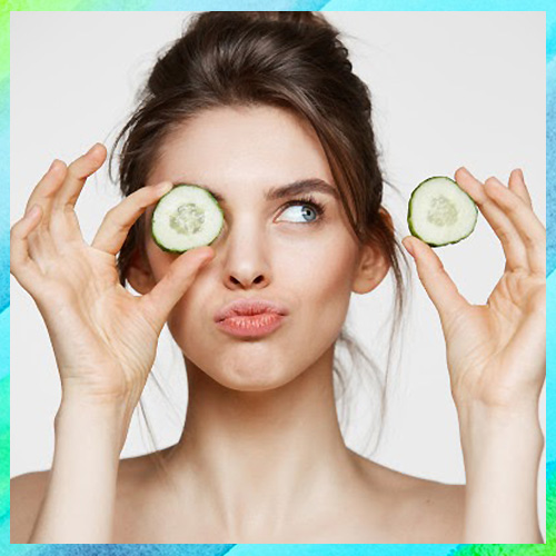 Cucumber Slices to Relax Eyes