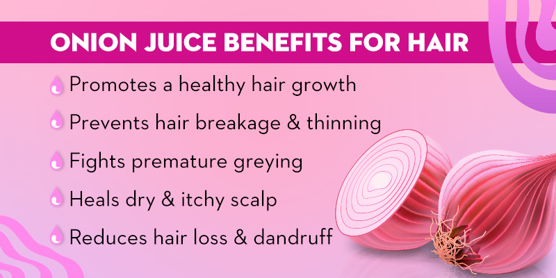 Onion juice benefits for hair