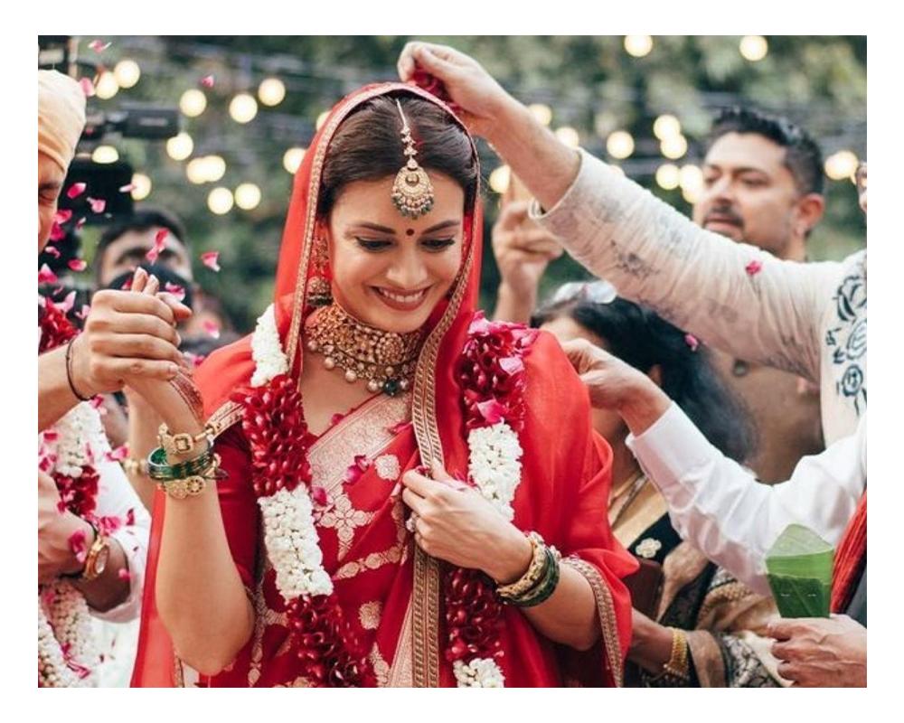 Dia Mirza bridal look