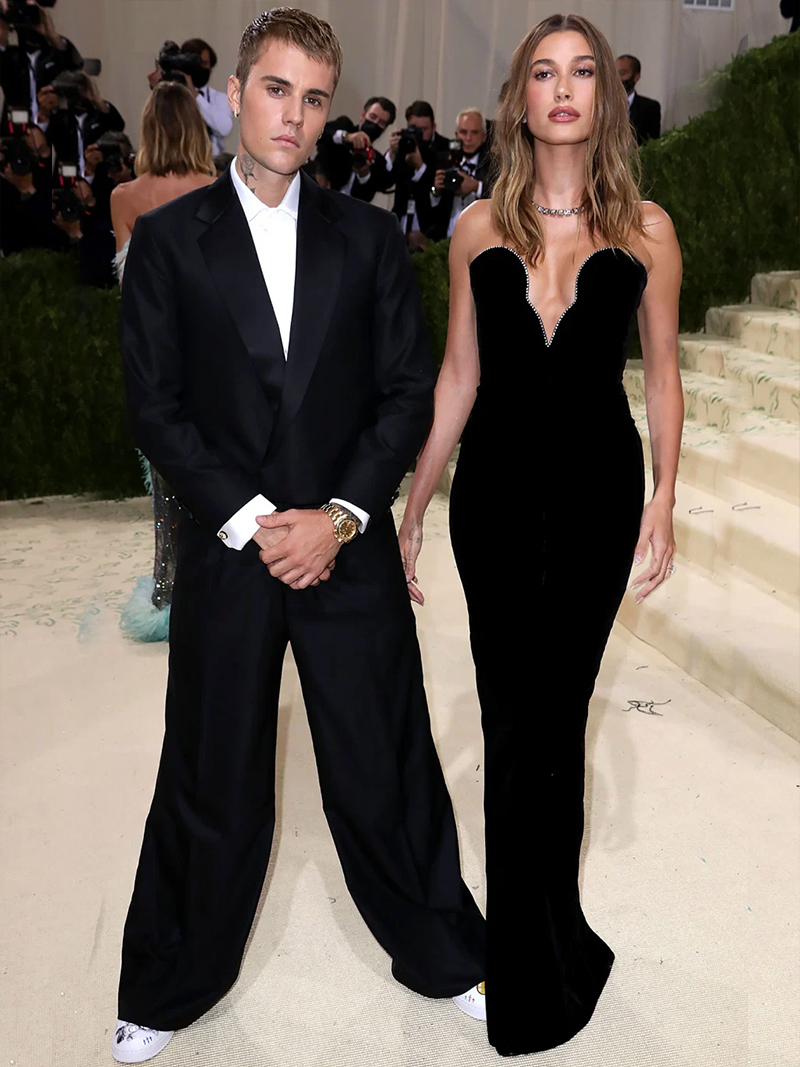 Justin and Hailey Bieber MET GALA 2021
