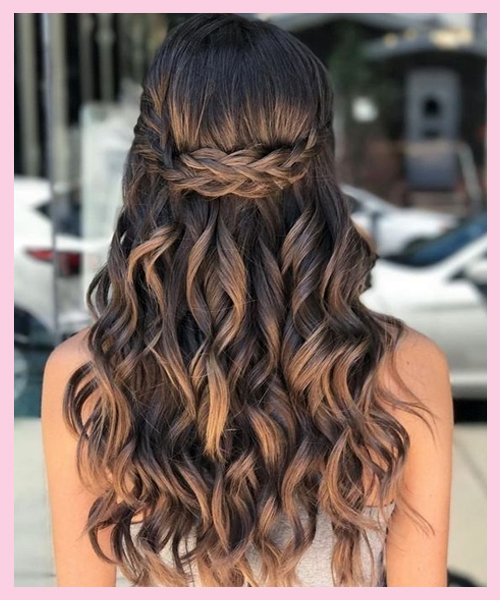 Waterfall-braid----half-up-half-down bridal hairstyle